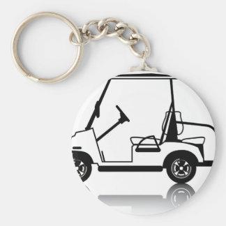 Golf Cart white Keychain