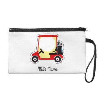 Golf cart wristlet purses