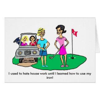 Golf Cartoon Greeting Card