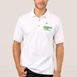 Golf cartoon, Pete Johnson Polo Shirt
