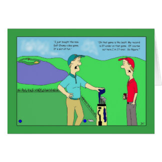 Golf Champ Video Game Birthday Card