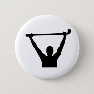 Golf champion winner 2 inch round button