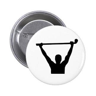 Golf champion winner 2 inch round button