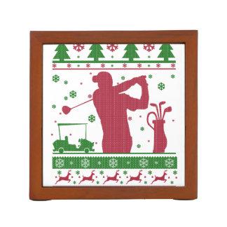 Golf Christmas Desk Organizer
