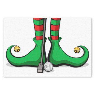 Golf Christmas Elf Feet Tissue Paper