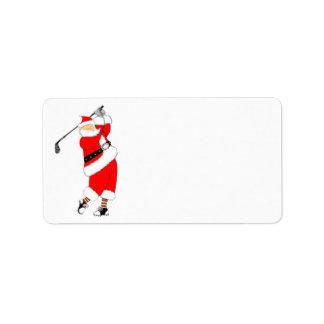 Golf Christmas Label