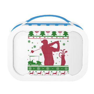 Golf Christmas Lunch Box
