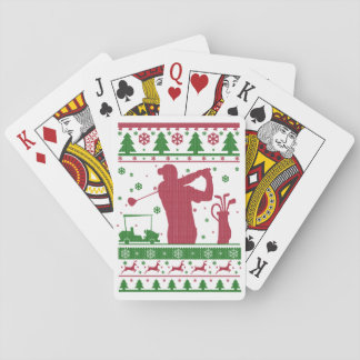 Golf Christmas Playing Cards