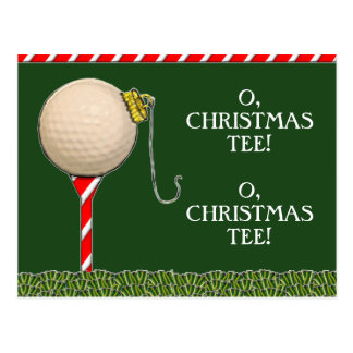 GOLF CHRISTMAS POSTCARD