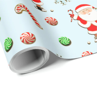 golf Christmas Wrapping Paper