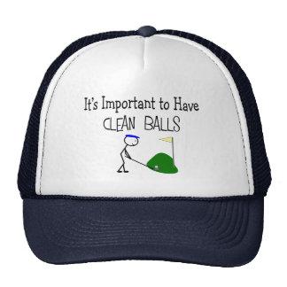 "Golf ""CLEAN BALLS""  Golf Humor Gifts Trucker Hat"
