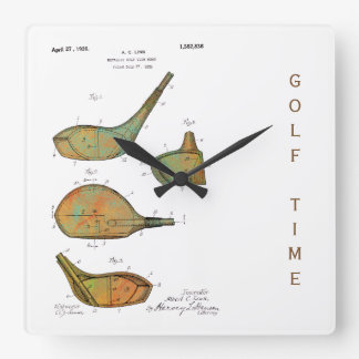 GOLF CLUB HEADS 1925 PATENT - Square Clock