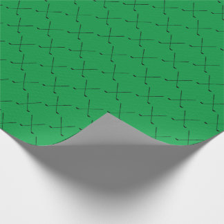 Golf Club Pattern | Any Background Color Wrapping Paper