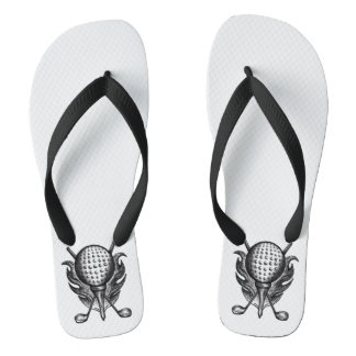 Golf Club Pro Golfer Course Ball Clubs Tee Gift Flip Flops