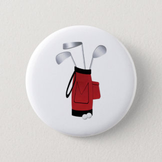 Golf Clubs and Bag 2 Inch Round Button