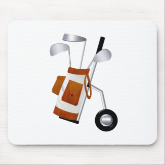 Golf Clubs and Bag Mouse Pad