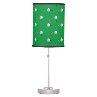 Golf Clubs & Ball Tiled Lamp
