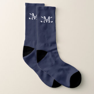 Golf Clubs Monogram Your Background Color Socks