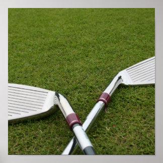 Golf Clubs Print
