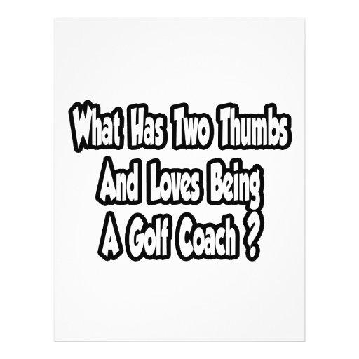Golf Coach Joke...Two Thumbs Flyer Design