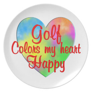 Golf Colors My Heart Happy Plates