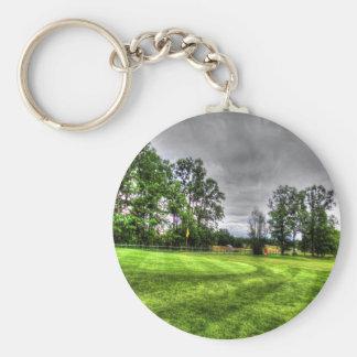 Golf Course Basic Round Button Keychain