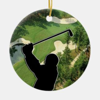 Golf Course Ceramic Ornament
