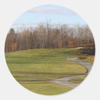 Golf Course Classic Round Sticker