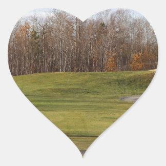 Golf Course Heart Sticker
