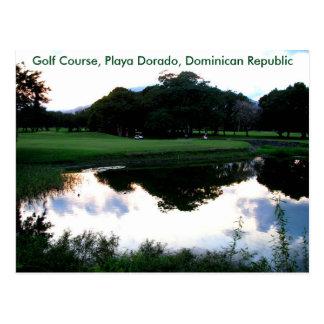 golf course in the Dominican Republic Postcard