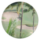 Golf Course in Tropics Plate