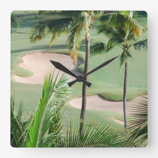 Golf Course in Tropics Wall Clock