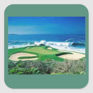 Golf course on the oceanside sticker
