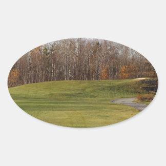 Golf Course Oval Sticker