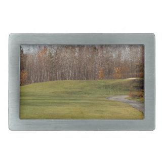 Golf Course Rectangular Belt Buckle