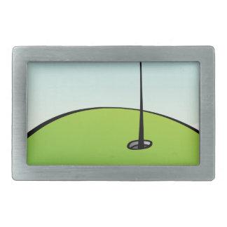 Golf Course Rectangular Belt Buckles