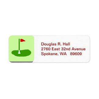 Golf Course Return Mailing Label Return Address Label