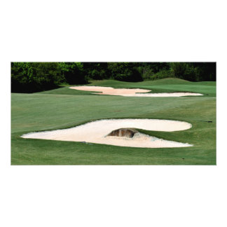 Golf Course Sand Traps Photo Greeting Card