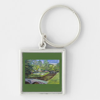 Golf Course scene on a premium keychain