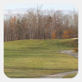 Golf Course Square Sticker