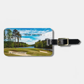 Golf Course Travel Luggage Tag