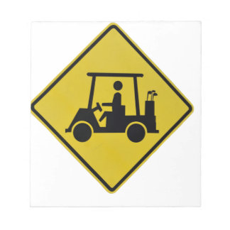 golf-crossing-sign notepad