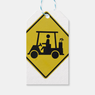 golf-crossing-sign pack of gift tags