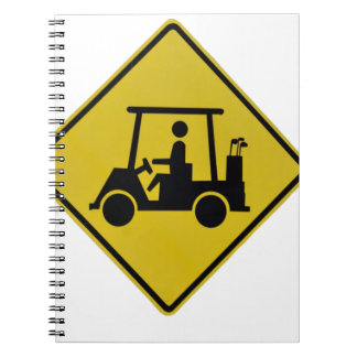 golf-crossing-sign spiral notebook