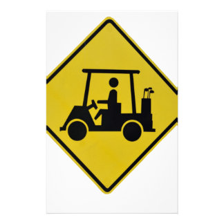 golf-crossing-sign stationery