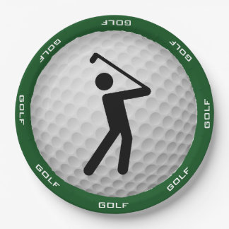 Golf Design Paper Party Plate