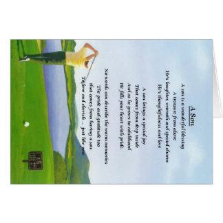 Golf Design - Son poem Card