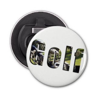 Golf Dimensional Logo, Magnetic Bottle Opener. Bottle Opener