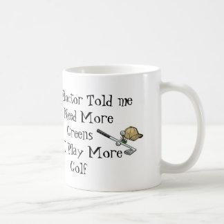 Golf Doctor Prescription Classic White Coffee Mug