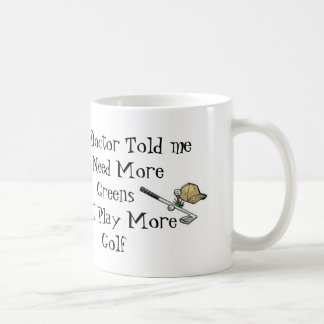 Golf Doctor Prescription Coffee Mug